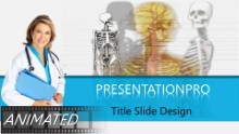 Animated Skeletal Exam Widescreen PPT PowerPoint Animated Template Background