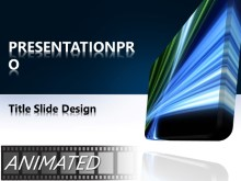 Download animated glowing tech blue Animated PowerPoint Template and other software plugins for Microsoft PowerPoint