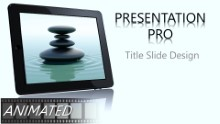 Animated Nature Waterstone 3 Widescreen PPT PowerPoint Animated Template Background