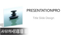Animated Nature Waterstone 4 Widescreen PPT PowerPoint Animated Template Background