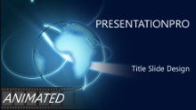Animated Widescreen Global 0022 PPT PowerPoint Animated Template Background