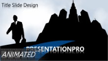 Animated Dark City Widescreen PPT PowerPoint Animated Template Background