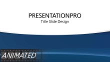 Blue Streaks Curve Widescreen PPT PowerPoint Animated Template Background
