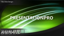 Green Abstract Light Widescreen PPT PowerPoint Animated Template Background