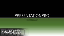 Light Stroke Green Widescreen PPT PowerPoint Animated Template Background