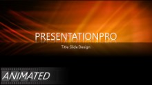 Orange Beams Reflection Widescreen PPT PowerPoint Animated Template Background