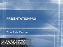 Animated Paths Blue PPT PowerPoint Animated Template Background