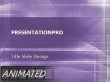 Animated Paths Purple PPT PowerPoint Animated Template Background