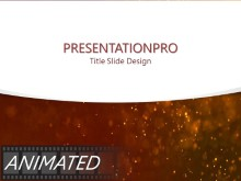 Red Textured Dust Curve PPT PowerPoint Animated Template Background