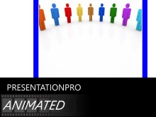 Animated Team Circle PPT PowerPoint Animated Template Background