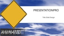 Blank Caution PPT PowerPoint Animated Template Background