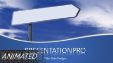 Blank Path Sign PPT PowerPoint Animated Template Background