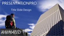 Climbing B Widescreen PPT PowerPoint Animated Template Background
