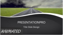 Going Places Dark Clouds Widescreen PPT PowerPoint Animated Template Background