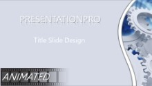 Multi Gears Gray Widescreen PPT PowerPoint Animated Template Background