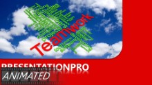 Teamwork Tag Cloud Widescreen PPT PowerPoint Animated Template Background
