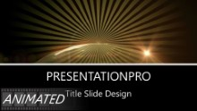 Golden World Rays Widescreen PPT PowerPoint Animated Template Background