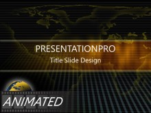 Download gold world Animated PowerPoint Template and other software plugins for Microsoft PowerPoint