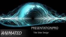 Global wave lengths Widescreen PPT PowerPoint Animated Template Background