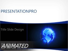 Animated Revolving Glow Globe PPT PowerPoint Animated Template Background