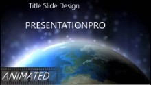 Top Of World Widescreen PPT PowerPoint Animated Template Background