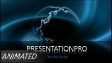 Turning Blue Globe Widescreen PPT PowerPoint Animated Template Background