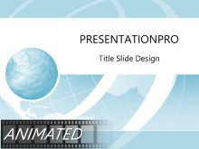 Animated Wire Wave Light Blue PPT PowerPoint Animated Template Background