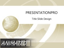 Animated Wire Wave Tan PPT PowerPoint Animated Template Background