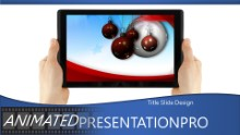 2014 Holding Tablet Holiday Widescreen PPT PowerPoint Animated Template Background