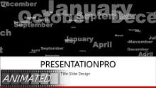 Months Of The Year Widescreen PPT PowerPoint Animated Template Background