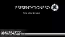 Keynote Effect - Fireworks Black PPT PowerPoint Animated Template Background
