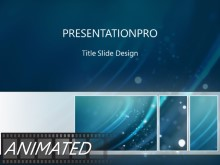 Animated Climbing Emissions Tribox Light PPT PowerPoint Animated Template Background