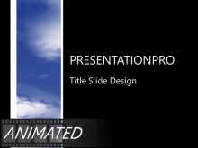 Animated Flowing Clouds of Blue PPT PowerPoint Animated Template Background
