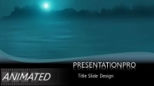 Moonlight Drip Widescreen PPT PowerPoint Animated Template Background