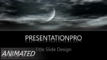 Moon Clouds Widescreen PPT PowerPoint Animated Template Background