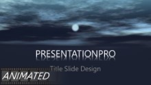Night Clouds Widescreen PPT PowerPoint Animated Template Background