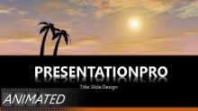 Animated Vacation Flight Widescreen PPT PowerPoint Animated Template Background