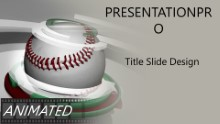 Baseball 0905 Widescreen PPT PowerPoint Animated Template Background