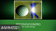 Golf 0235 Widescreen PPT PowerPoint Animated Template Background