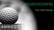 Rolling Golf Balls Widescreen PPT PowerPoint Animated Template Background