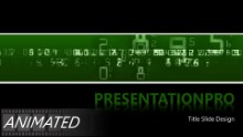 Digital Ticker Widescreen PPT PowerPoint Animated Template Background