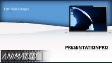 Globe On Laptop Widescreen PPT PowerPoint Animated Template Background