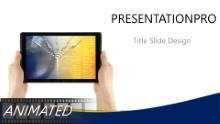 Mobile Flight Plan Widescreen PPT PowerPoint Animated Template Background