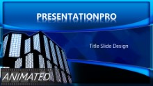 Building Blue Widescreen PPT PowerPoint Animated Template Background