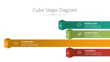 PowerPoint Infographic - 010 Chain Cube Stages 3