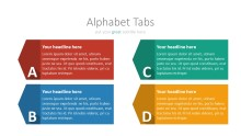 PowerPoint Infographic - 037 Flat Alphabet Tabs