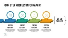 PowerPoint Infographic - 061 - 4 Steps Arrows