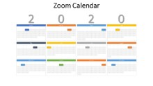 2020 ZOOM Calendars Full Year Monthly