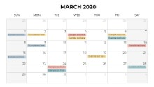 Calendars 2020 Monthly Sunday March