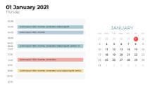 Calendars 2021 Daily Log January